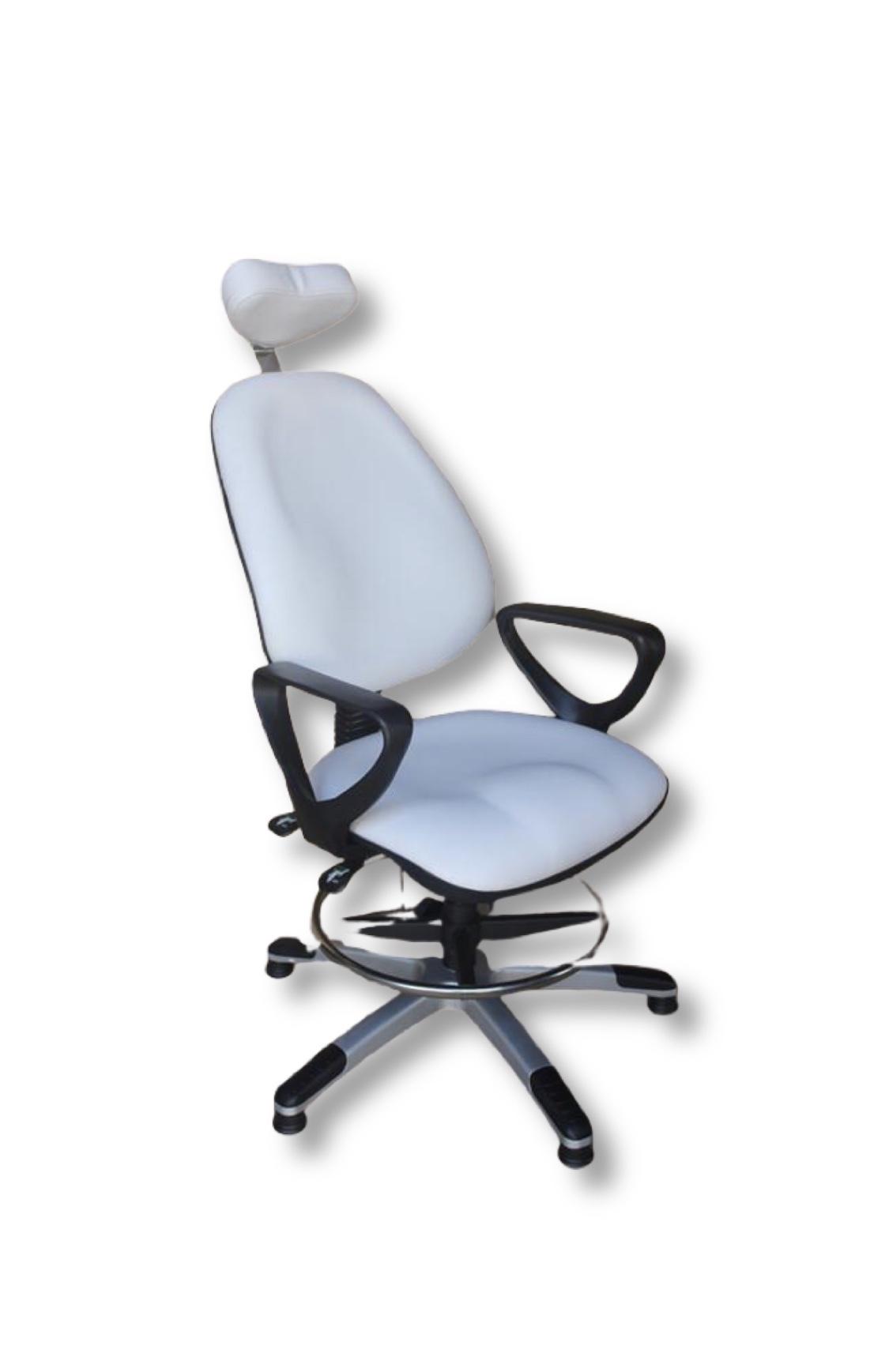 כסא פליאומטי לבן 1